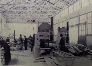 Aserradero de Muniellos hacia 1960